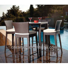 Luxury Durable Easy Cleaning all weather wicker bar set