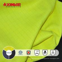 Tissu anti statique ignifuge de haute ténacité jaune fluorescent de tissu de ténacité / coton