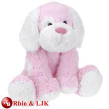 OEM soft ICTI plush toy factory dog toy plush pink