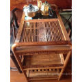 Service Kosso Solid Wood Trolley with Chinese Tea