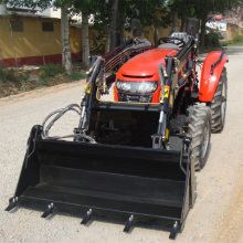 4x4 Compact Lawn Tractor with Mini Front Loader and Backhoe