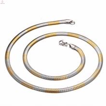 316 Edelstahl Silber und Gold zwei Ton Schlangenkette, Schmuck zu machen