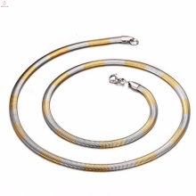 316 Stainless Steel Silver And Gold Two Tone Snake Chain To Make Jewelry