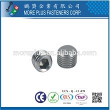 Taiwan Sem Cabeça Grub Screw Gewindestifte Kegelkuppe DIN913 ISO4026 com Ponto Liso Pontão Hexágono Soquete Pequenos Parafusos