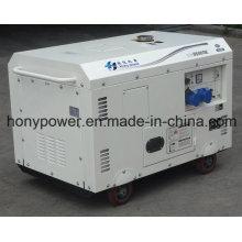 Gerador diesel portátil refrigerado por ar do tipo silencioso