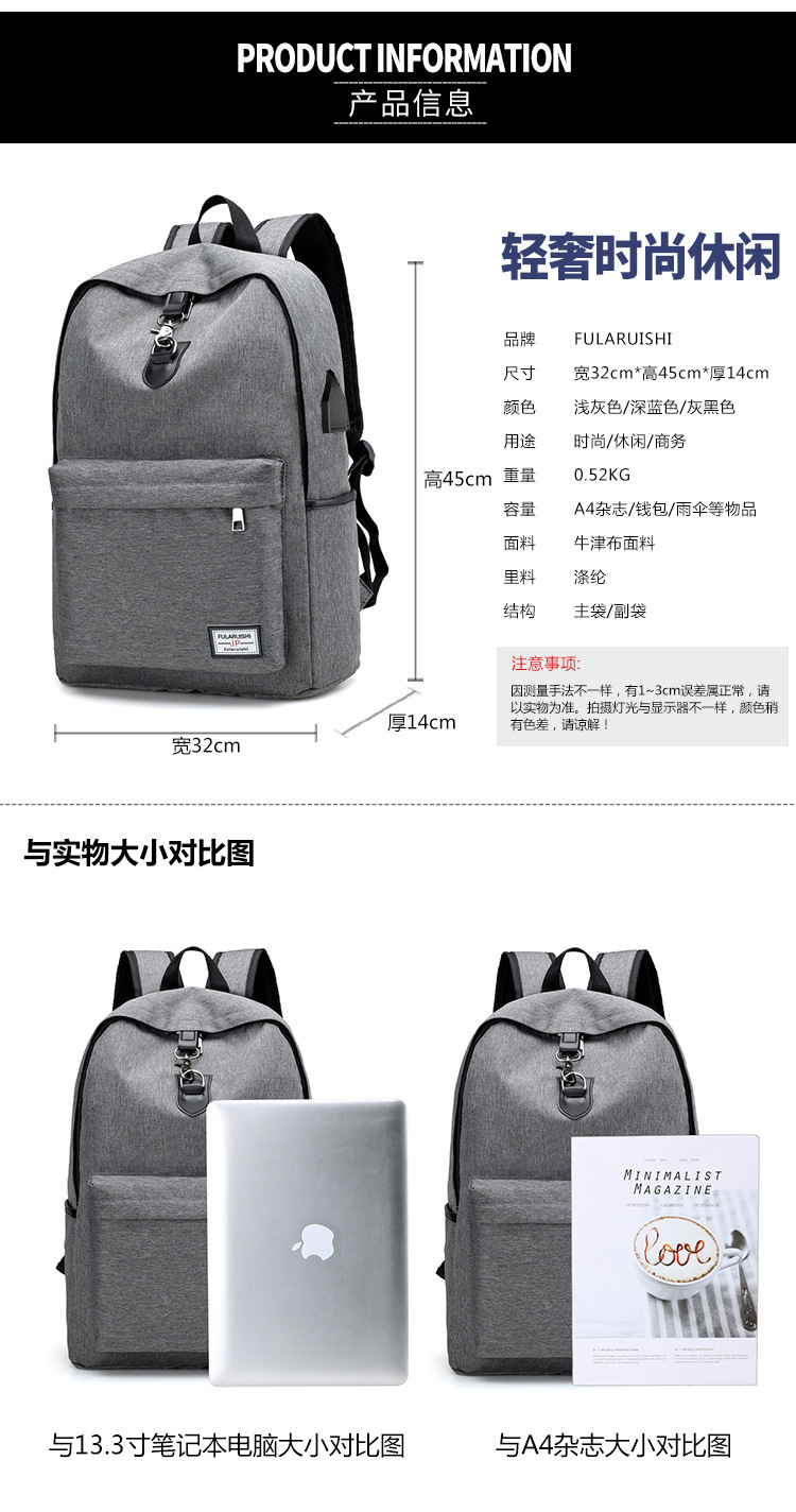 Slim Business Laptop Backpack With USB Port