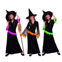 Halloween Costumes, Black Knitted Fabric Material, For Children, Three Colors Available