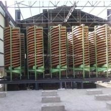 Concentrador espiral para planta de concentração de minério de cromo