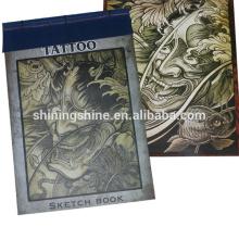 Livre de design de tatouage au meilleur marché en gros vendu au zhejiang, marketing de livre