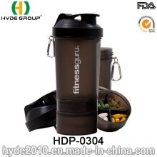 600ml BPA libre en plastique protéine Smart bouteille Shaker (HDP-0304)