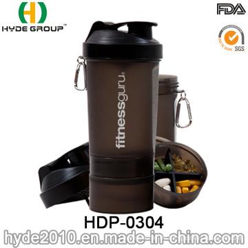 600ml BPA-freien Kunststoff Protein Smart Shaker Flasche (HDP-0304)