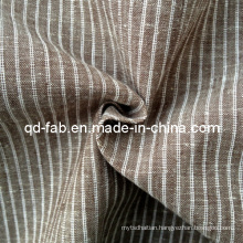 Cotton/Linen Yarn Dyed Stripe Shirting Fabric (QF13-0764)