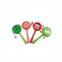 Kinder Spielzeug Holz Rassel Trommel