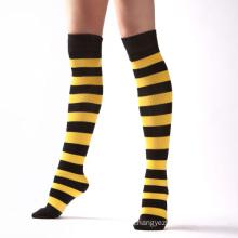 2015 Fashion Knee High Striped Socks for Ladies