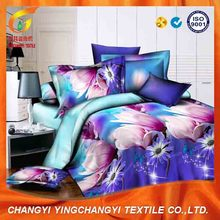 115g polyester disperse print bed sheet fabric