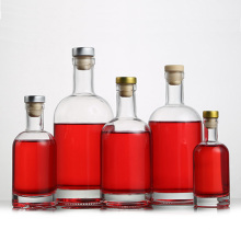 certificated  Custom Empty glass container Glass Vodka Bottle with cork