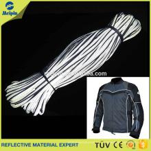 Tubería de tela reflectante plateada para ropa / calzado / uniforme