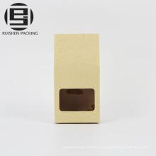 Levántese las bolsas de embalaje del papel de Kraft del regalo del caramelo