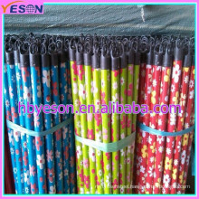 Pvc covered broom wood handle with different pvc pattern and different cap