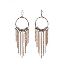 Fashion Gold Tassels Crystal Earring For Lady