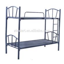 Matériel de fer de couleur noire dernier lit double conçoit lit superposé d'enfants