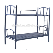 Black color iron material latest double bed designs children bunk bed