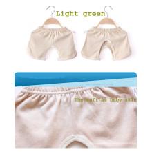 Pantalones cortos de asiento de algodón orgánico recién nacido para bebé necesarios en el verano