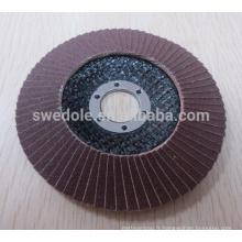 """Disque de roue à lamelles revêtu de zircone de 4 """"-7"""" pour inox, acier inoxydable"""