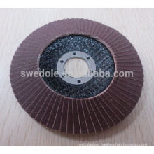 T27/T29 abrasive sanding disc calcined aluminua fiberglass flap disc