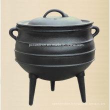 # 8 pot de pot de pot de fonte préfabriqué avec 3 jambes