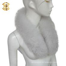 Venta al por mayor Collar de piel de Fox azul natural Desmontable Collares de piel real