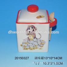Conjunto de utensilios de cocina de cerámica de cerámica con cuchara
