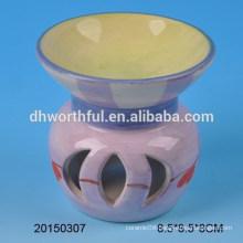 Wholesale home decoration purple ceramic incense burner
