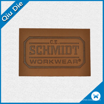 Kraft Design Leather Labels for Man′s Jackets Fabric