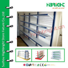 supermarket plastic coated wire shelving