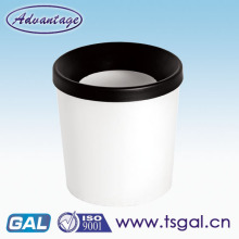 open top plastic waste bin