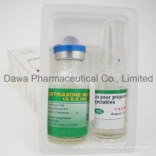Injection antibiotique de ceftriaxone sodique pour l'infection bactérienne