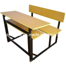 Classic Double Desk Chair, School Furniture, Student Desk and Chair