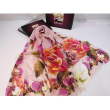 2020 women New fashion long digital rose printed  scarf hijab shawl
