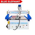 L'éléphant bleu 1325 4 axes cnc routeur rond bois sculpture machine avec CE certifié