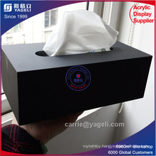 Factory Direct Sale Black Acrylic Napkin Box