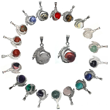 2016 Trendy Products Semi Precious Stone 15MM Sphere Dragon Claw Pendant