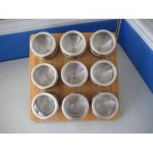 Étagère à épices magnétique inox (CL1Z-J0604 - 9D)