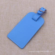 2015 Custom PU Leather Luggage Tags with Embossed Logo