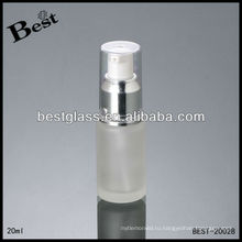 Замороженная бутылка лосьона 20 мл, для тела косметическая лосьон бутылки, серебро насоса лосьона бутылки