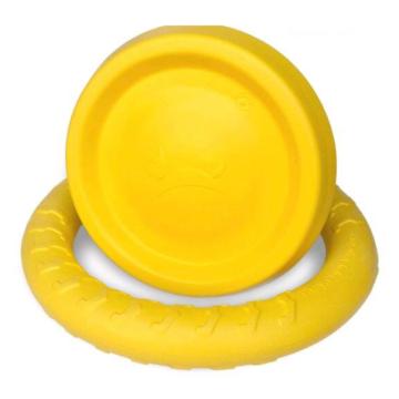 Cães flutuando brinquedo frisbee