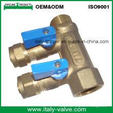 OEM & ODM Brass forjado de qualidade de 2 vias Manifold (AV9068)