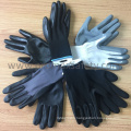 13G Yellow Seamless Liner Black Nitrile Palm Coated Work Gloves