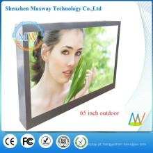 alto brilho luz solar ecrans LCD 65 polegadas tela grande LED monitor ao ar livre