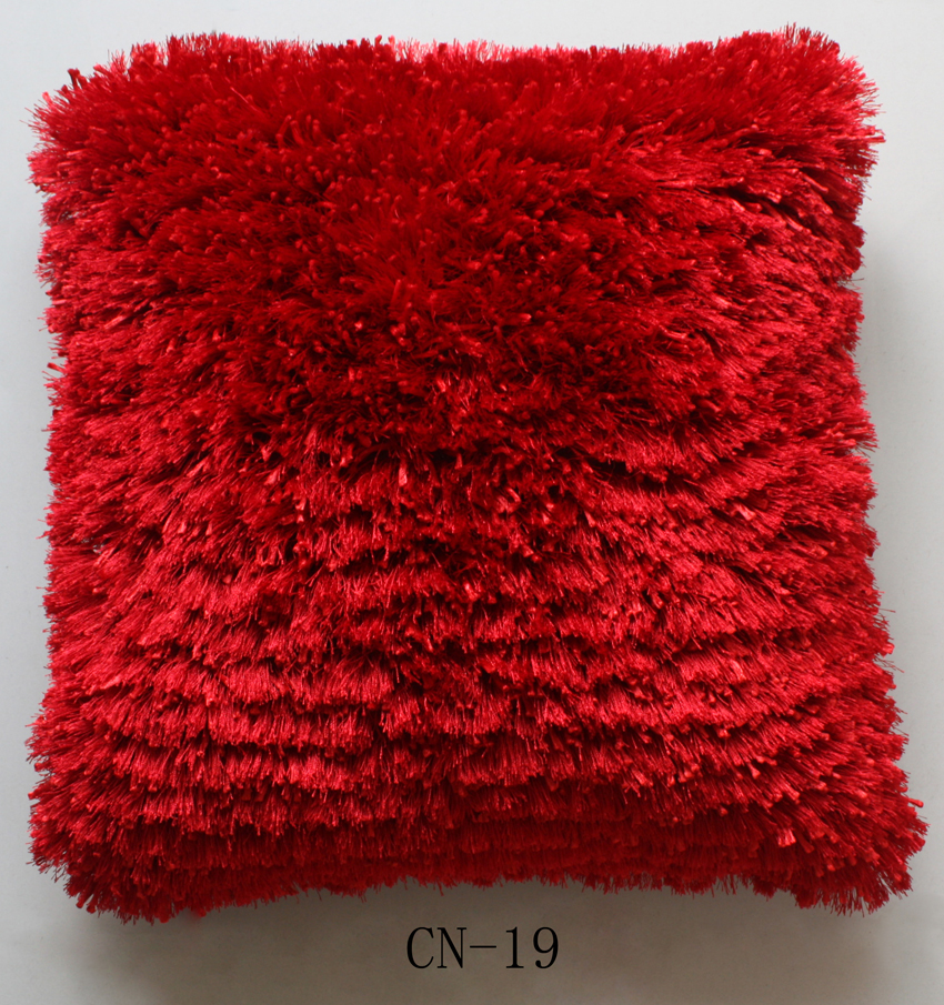 Polyester thick and thin yarn mix Cushion